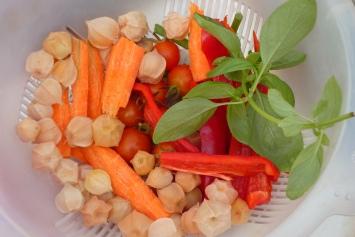 Basilic, tomates, physalis...